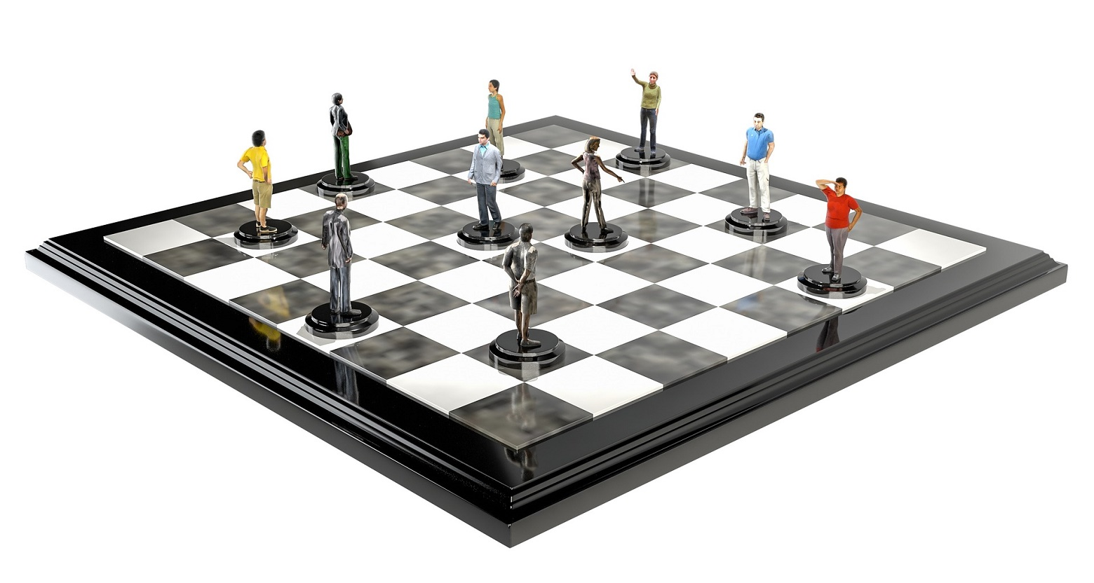 People as chess figures